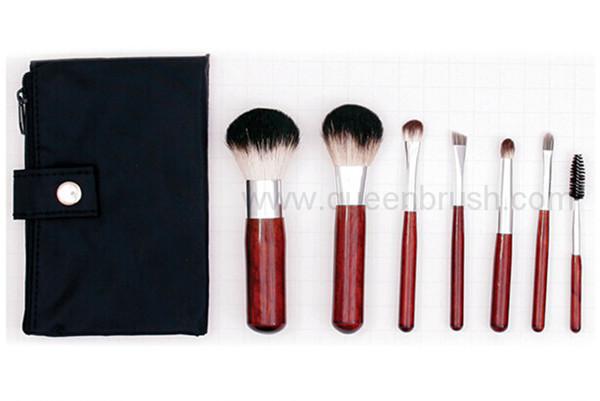 7pcs Goat Hair Travel Makeup Brush Set